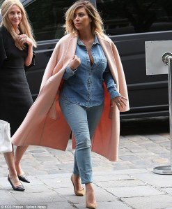 Double Denim Kim K